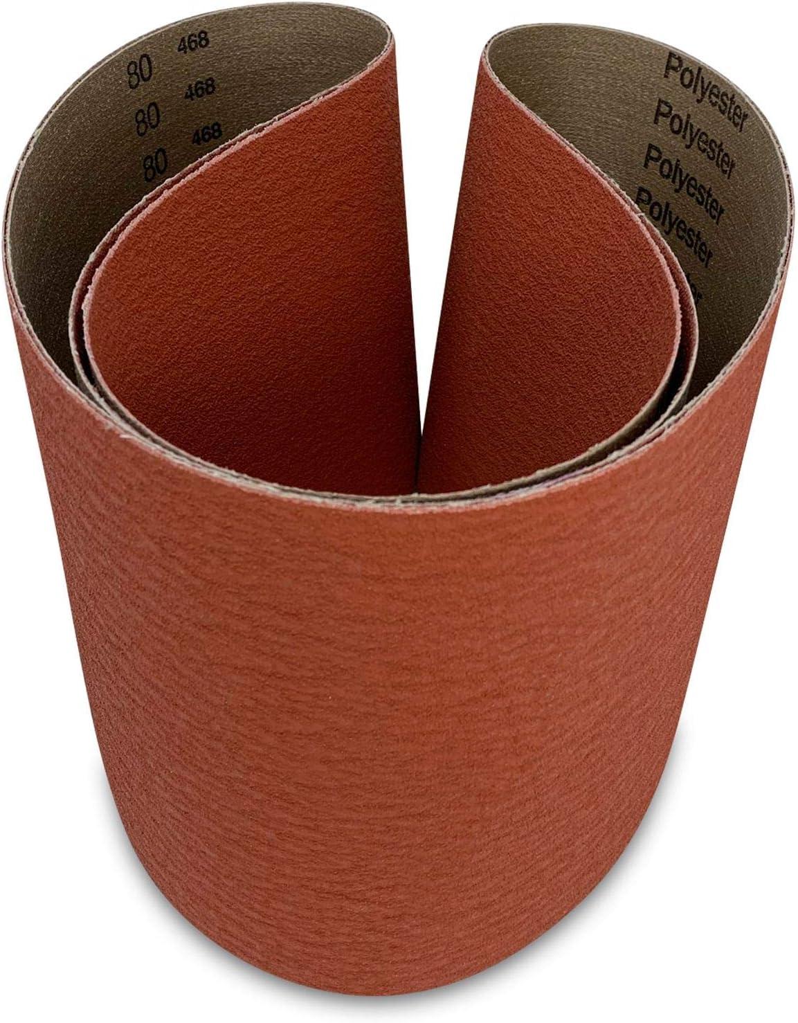 2 x 48 Inch Hig Quality A//Z-Zirc Sanding Belts  120 Grit 3pcs