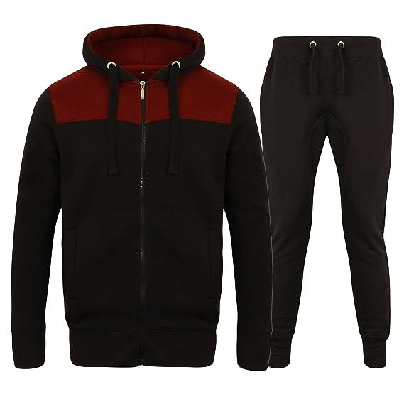 3df0d2203 Fabrica Fashion Complet pour Homme Polaire Uni Survêtement à Fermeture  Éclair Sweat à Capuche Jogging Polaire Survêtement