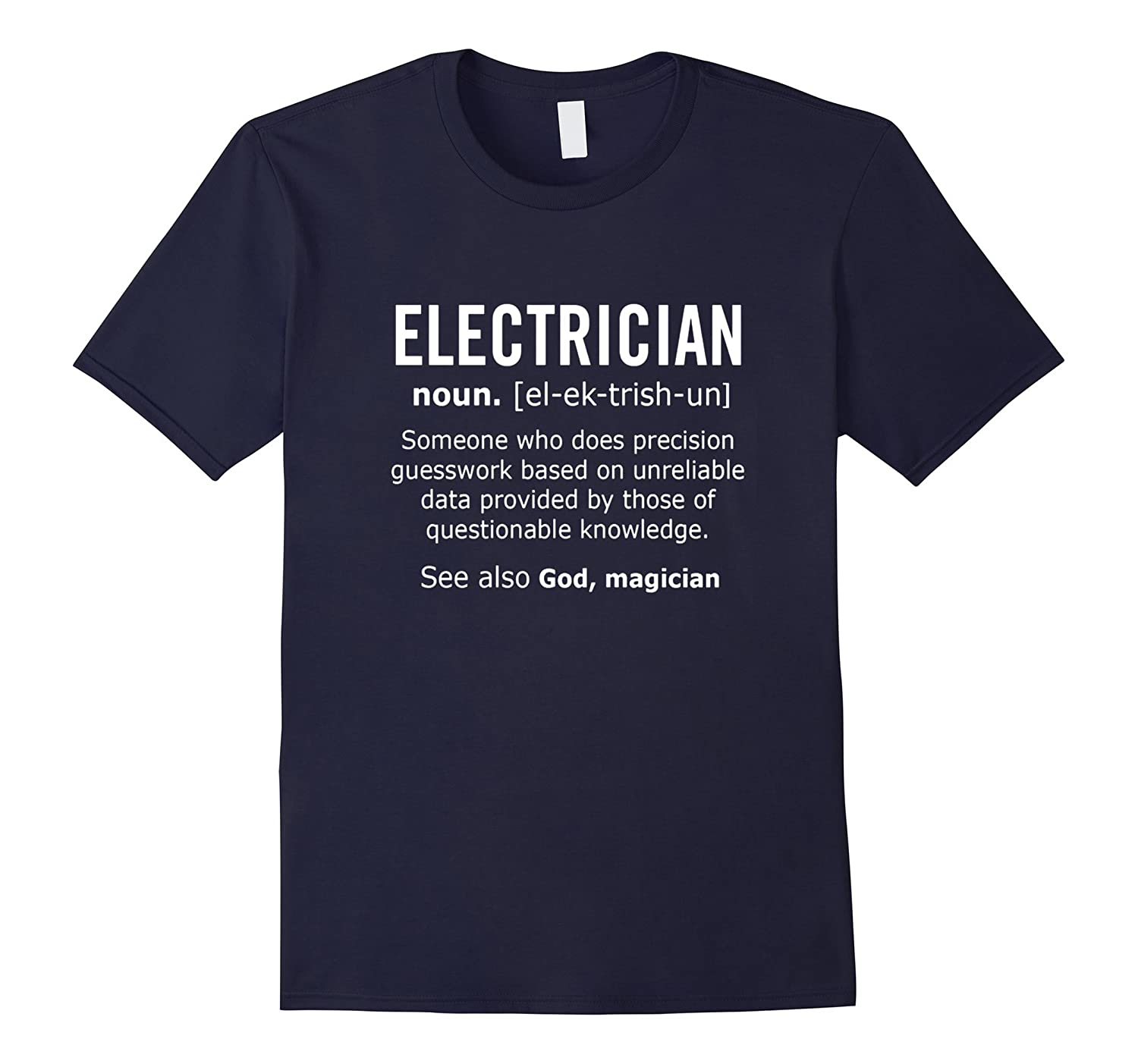 Electrician Noun Job Mens Funny Shirt Christmas Gift-TJ
