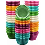 MontoPack 300-Pack Holiday Party Paper Baking Cups - No Smell, Safe Food Grade Inks and Paper Grease Proof Cupcake Liners Per