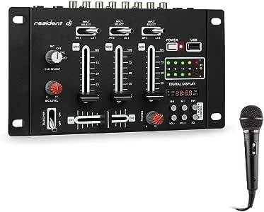 Resident DJ - DJ-21 BT, Mesa de mezclas DJ, Set de mezcla, 2,3 ...