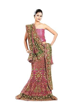 sakalaexp Indian Lehenga Choli For Women Party Wear Pink Designer Traditional