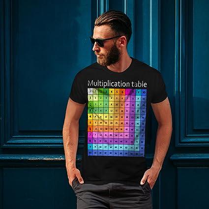 Geek Graphic Design Printed Tee Wellcoda Multiplication Table Mens T-shirt