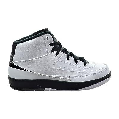 Jordan 2 Retro BP Little Kid's Shoes White/Black/Dark Grey 820221-103
