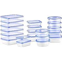 Deik Tupperware Set de Recipientes para Alimentos con Tapa, Conjunto Apilable de 20 Piezas, Sin BPA, Certificado LFGB, Apta para Lavavajillas y Microondas, Tamaño Diverso