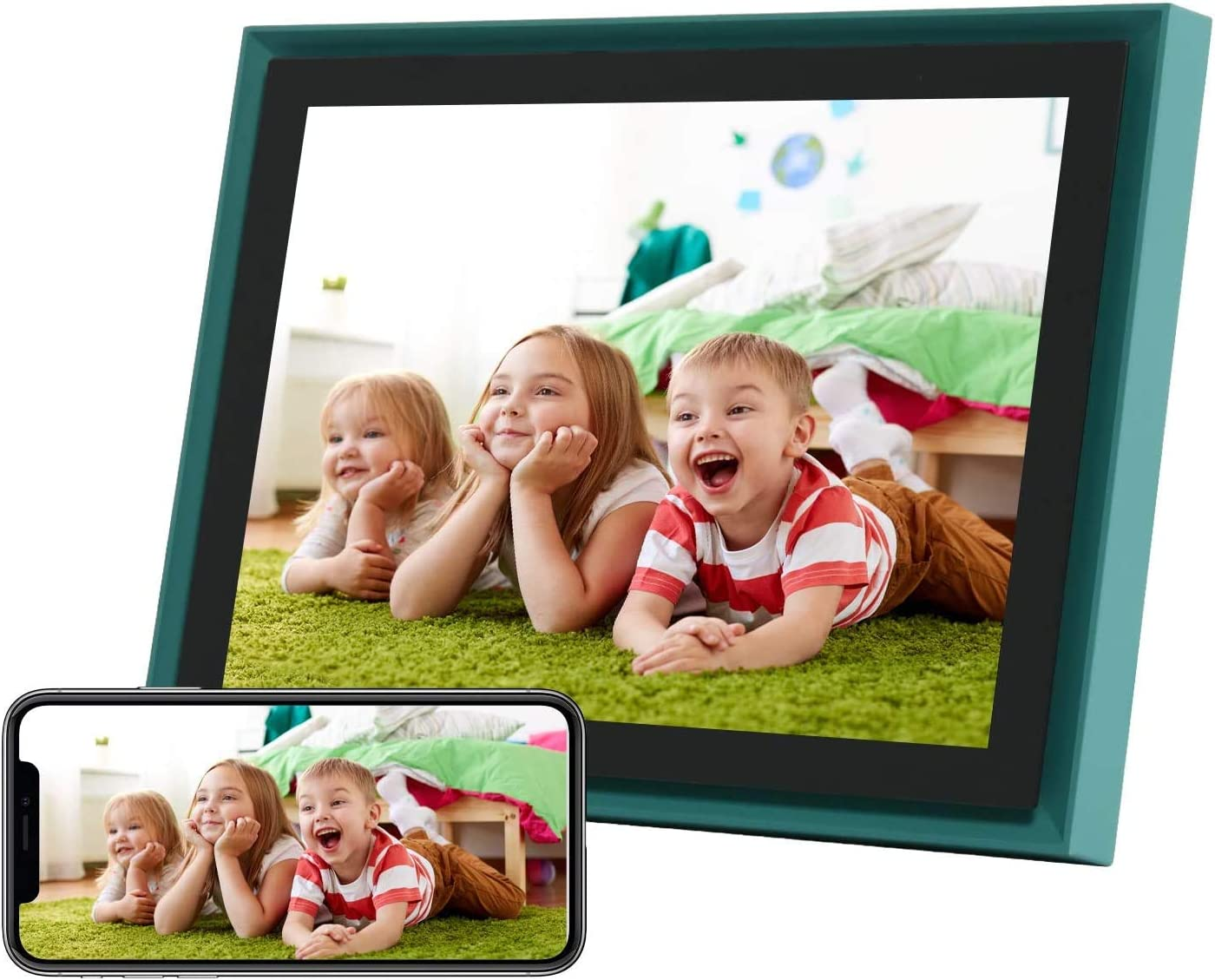 AEEZO WiFi Digital Picture Frame 10 Inch IPS Touch Screen FHD 2K Display Smart Cloud Photo Frame