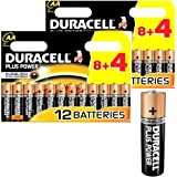 2 X Duracell MN1500B12 Plus Power AA Size Batteries - Packs of 12 (24 Batteries)