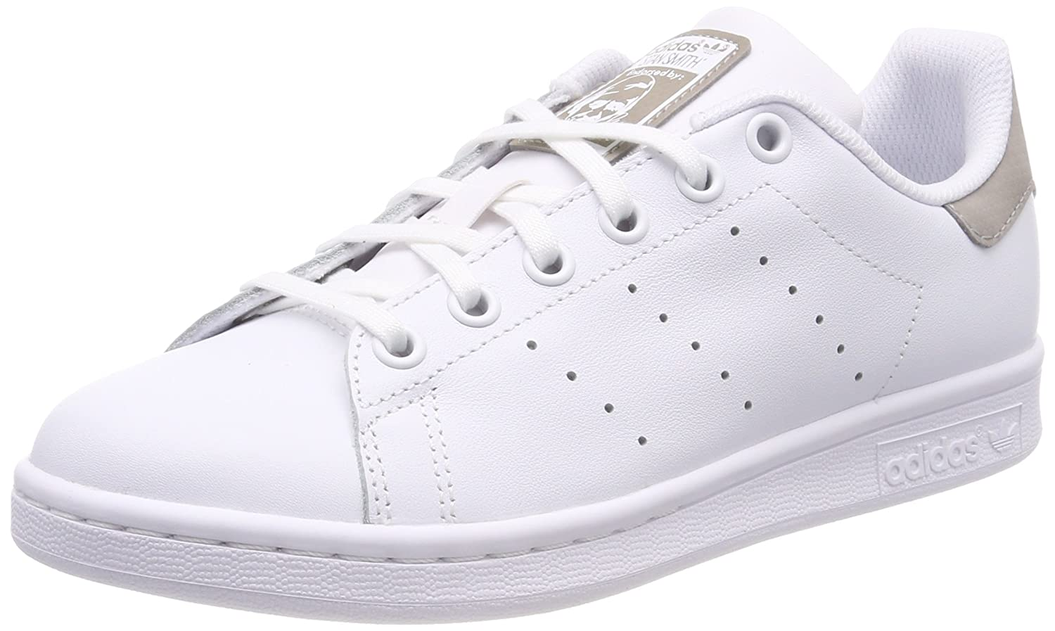 Adidas Stan Smith J, Chaussures de Gymnastique Mixte Enfant Baskets Mixte Enfant Blanc Footwear White 0 37 1/3 EU DB1200