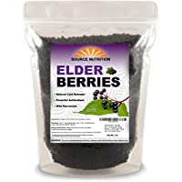 1 lb Natural Dried Elderberries - Responsibly Wild Crafted, Whole European Elderberry, Perfect for Tea, Syrups, and More…
