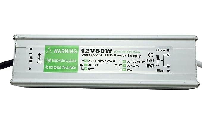 11 opinioni per YXH® Trasformatore 80W (Striscia LED alimentatore) 12v (Modulo Driver Led)