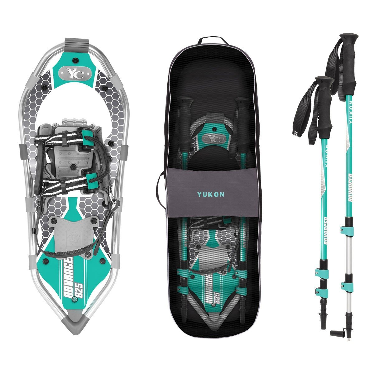 Yukon Charlie's Advanced 8x25 in. Women's Snowshoe Kit w/ Poles & Bag | 80-3006K by Yukon Charlie's