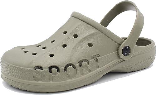 Dynamic - Zapatillas de jardín para hombre muy ligeras, zapatillas para casa, chanclas de goma: Amazon.es: Zapatos y complementos