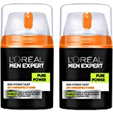 L'Oréal Men Expert Pure Power Soin Visage Homme Anti-Imperfections Peau Grasse - Lot de 2