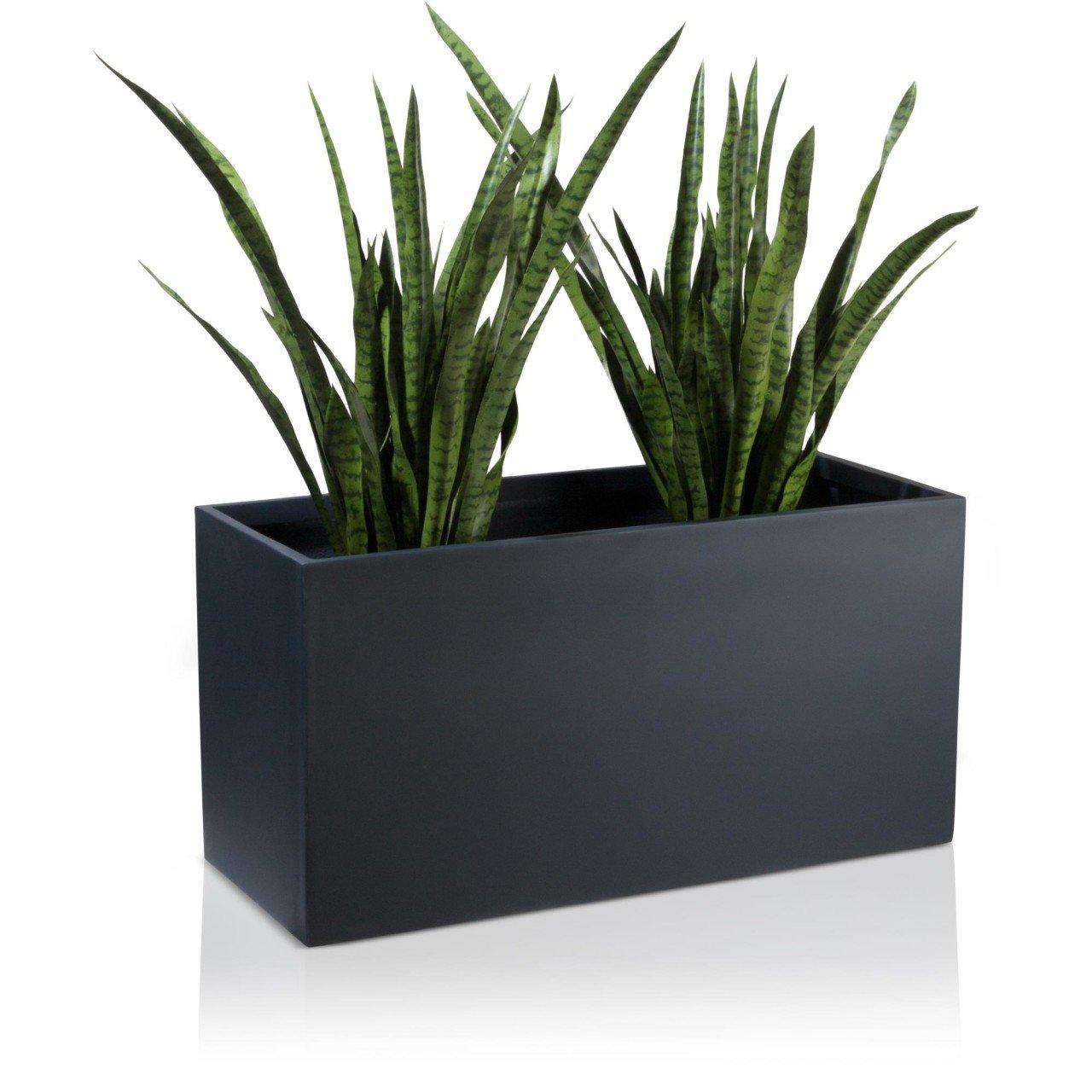 pflanztrog blumentrog visio fiberglas blumenk bel farbe anthrazit matt gro er wetter und. Black Bedroom Furniture Sets. Home Design Ideas