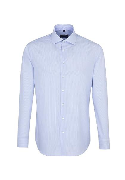 schmales Hemd mit Kent-Kragen Langarm B/ügelfreies 100/% Baumwolle Seidensticker Herren Business Hemd Slim Fit