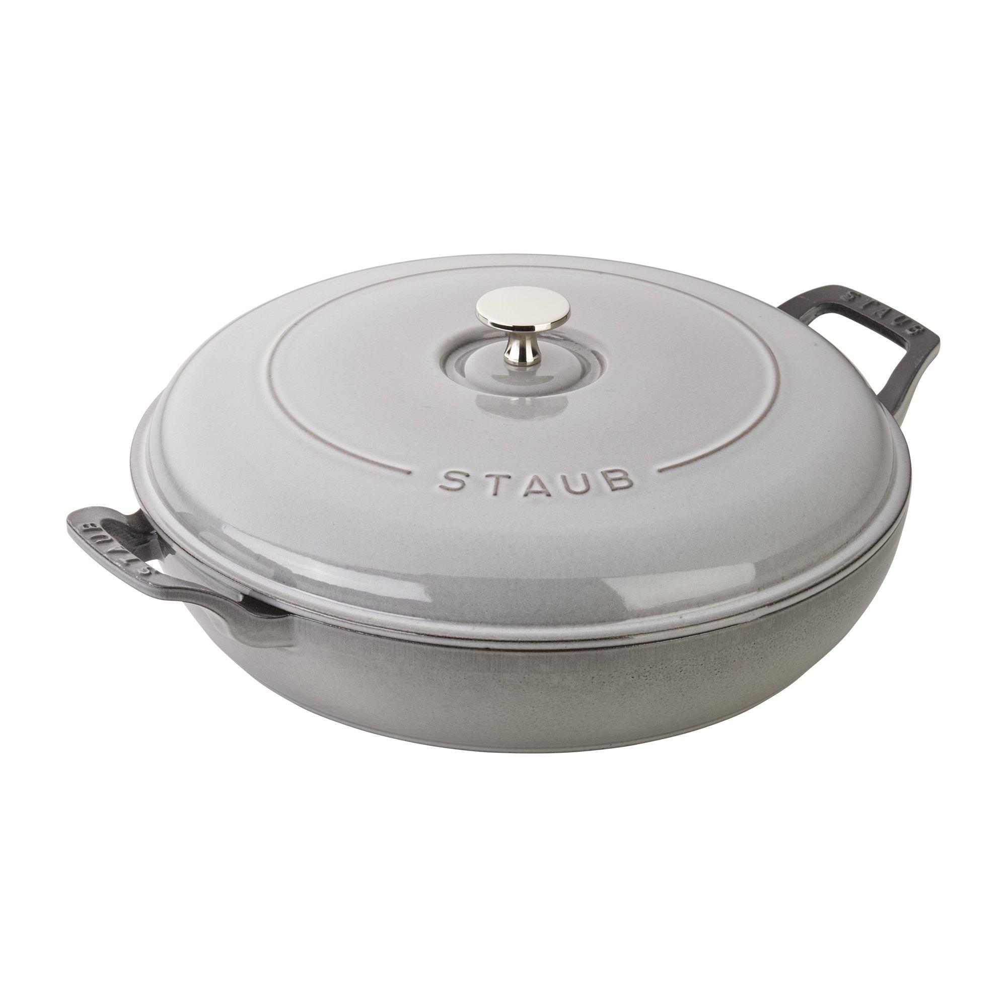 Staub Cast Iron 3.5-qt Braiser - Graphite Grey