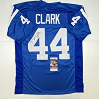 $99 » Autographed/Signed Dallas Clark Indianapolis Blue Football Jersey JSA COA