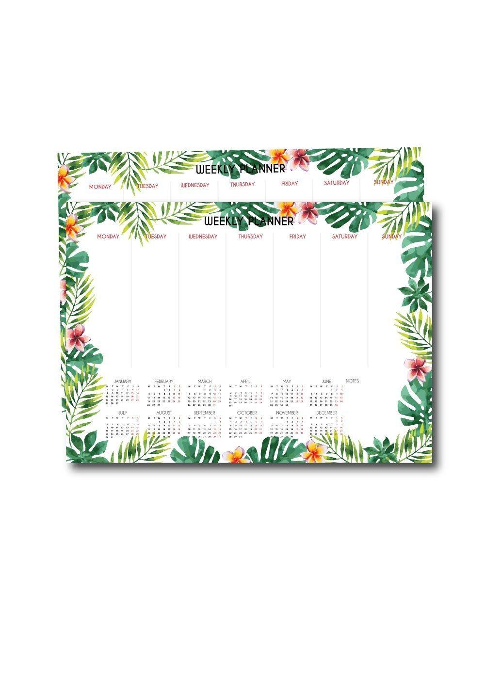 2018 Weekly Planner - Tropical