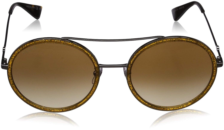 de86dbb671 Amazon.com  Gucci GG0061S Beige Silver Brown Shaded 56 22 140 Women  Sunglasses  Clothing