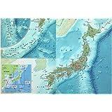 東京カートグラフィック  クリアファイル日本 地勢 見開きA3 CFNE