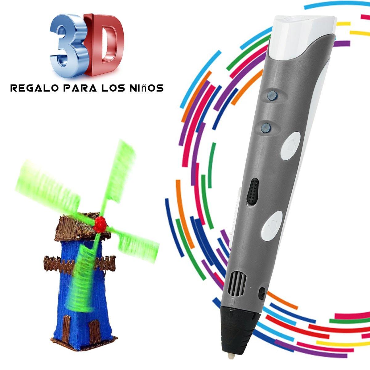 Penna Stampa 3D BANGBO Intelligent 3D Pen on Supporto perla Penna e filamenti per la creazione e la pittura Doodling, Arrancio HW-3DpenEU-Orange
