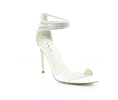 Nina Catessa Womens Heels Ivory Crystal Size ...