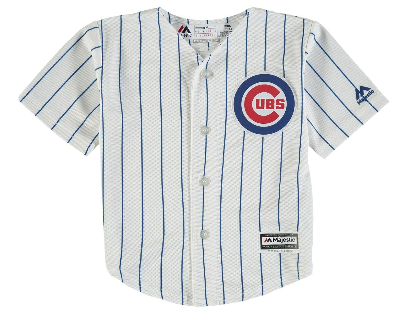 351b12db2a8 Amazon.com  Chicago Cubs Home Infant Cool Base Replica Jersey by Majestic  Select Infant   Toddler   Youth Size  24 Months  Sports   Outdoors