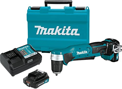 Makita AD04R1 12V max CXT Right Angle Drill Kit, 3 8