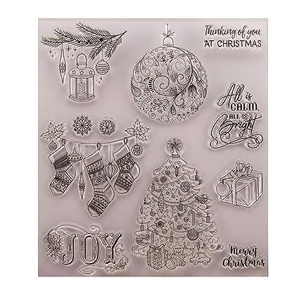 Calendrier Scrapbooking.Fogun Cadeau De Noel Tampons Clairs Transparents Scrapbooking Stamp Calendrier En Silicone Pour Diy Loisirs Creatifs Decoration Cadeau Noel Enfant