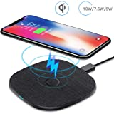 Wireless Charger Pad, AGPTEK Qi 10W Max Fast Charge, 7.5W Charging Compatible iPhone Xs Max/Xs/XR/X/8/8 Plus, 10W Compatible Samsung Galaxy S10/S9/Note 9/S8