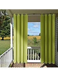 patio indoor outdoor curtain 95 nicetown home fashion microfiber thermal insulated silvery grommets blackout drape