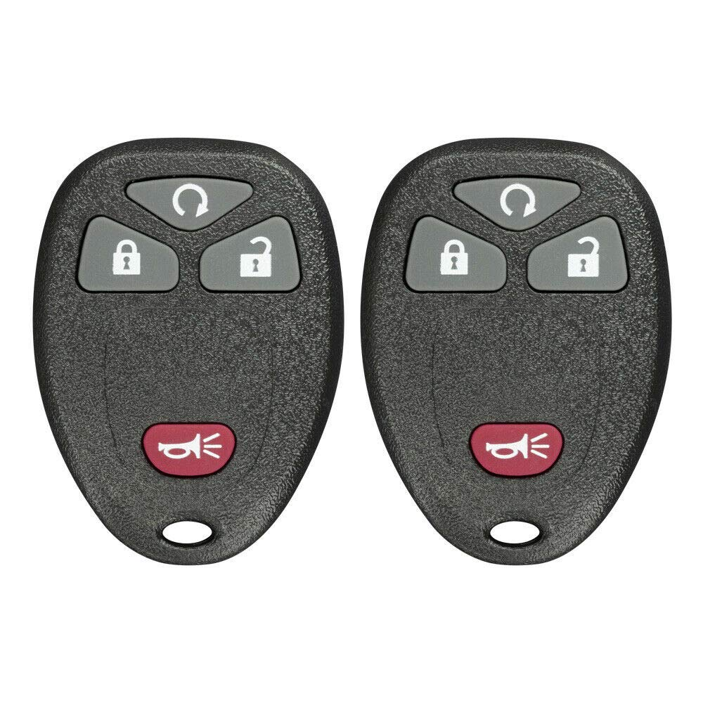 2 Pack FikeyPro Remote Key Fob fits Buick Cadillac Chevrolet GMC 4-Button 15913421 OUC60270