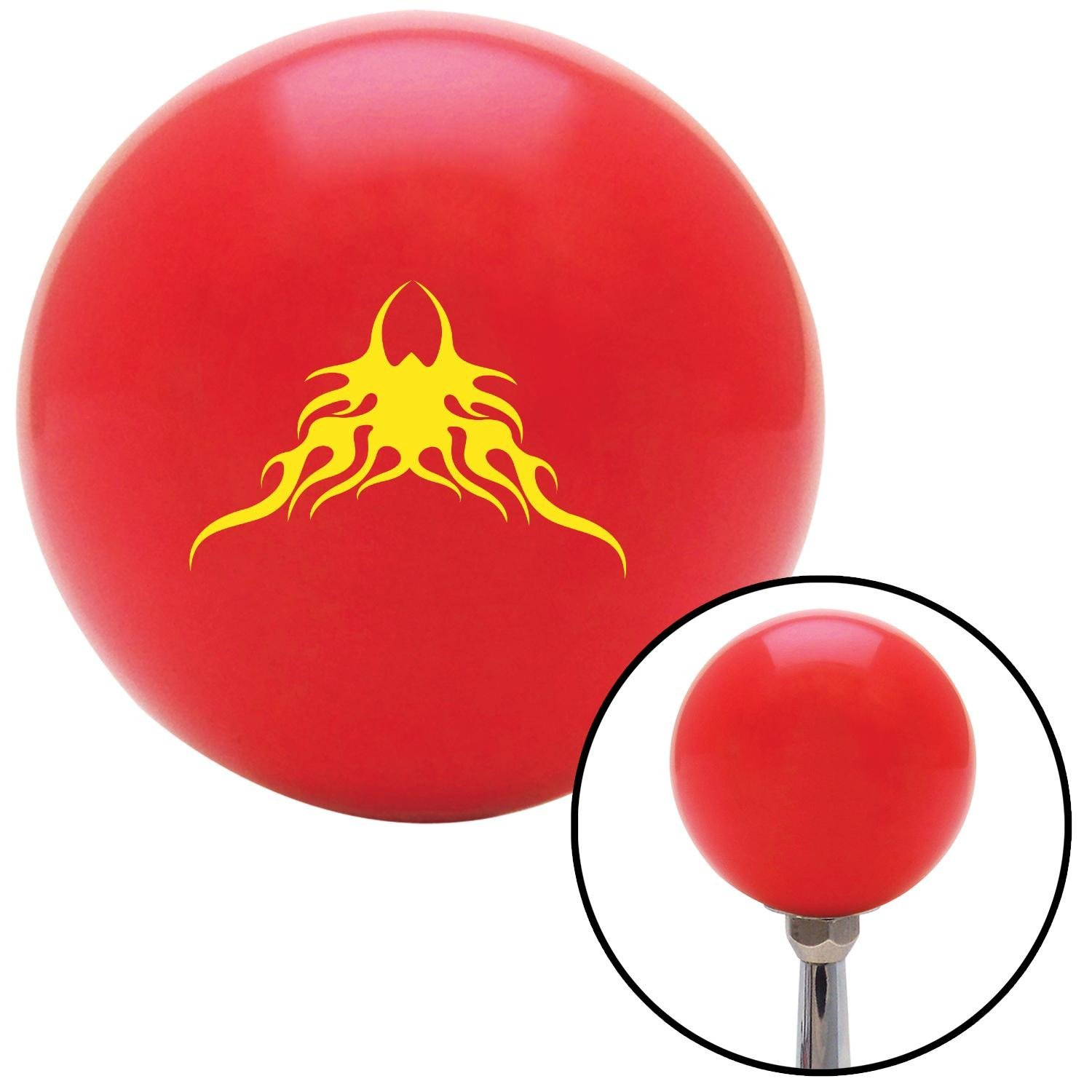 Yellow Large Tribal Flames American Shifter 95158 Red Shift Knob with M16 x 1.5 Insert