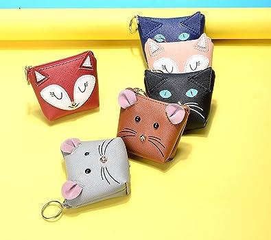 Amazon.com: Micom Cute Cartoon Fox Gato mouse pequeño piel ...
