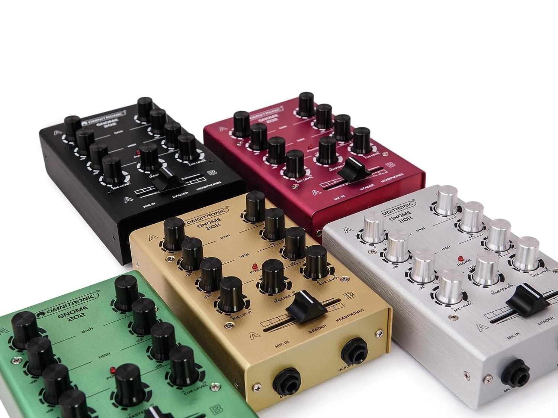 Omnitronic Gnome 202 Mini Mixer Silver 4026397514100