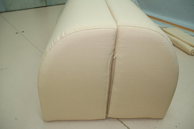 Resingomm Spalliera per Letto a Ponte Due spalliere Coperta in Omaggio Prodotto Made in Italy Colore Beige trasforma Il Letto in Un Divano