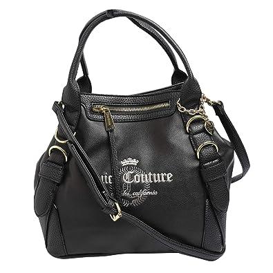 Juicy Couture Women s Satchel Bag Black  Amazon.in  Shoes   Handbags 542a9fd3d