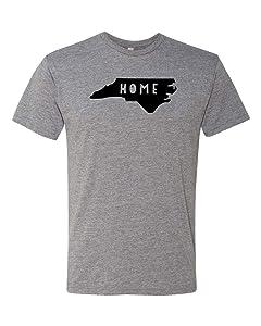 Home North Carolina State (NC), Graphic Men's Tee, Shirts with Sayings, Heather Gray or Indigo