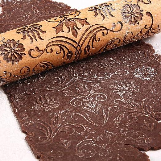 SNOLEK Patrón Creativo Rodillo de panadería pastelería ...
