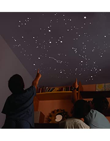 Encambio Alcrea Kit de 270 Estrellas Fluorescentes + Plantilla de 2 m². REPRODUCCIÓN EXACTA del
