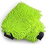 AIDEA Car Wash Mitt Microfiber Scratch & Lint Free, Premium Chenille Microfiber Wash Mitt-Green Regular Size (7.12''X10…