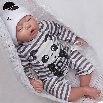 ZIYIUI Recién Nacido Realista Juguete Imán Chupete 22 Pulgadas / 55 cm Verdadero Aspecto Real Touch Vinilo Suave Silicona Vida como Reborn Baby Doll