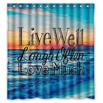 Amazon Custom Sunset Sea Ocean Beach With Live Laugh Love