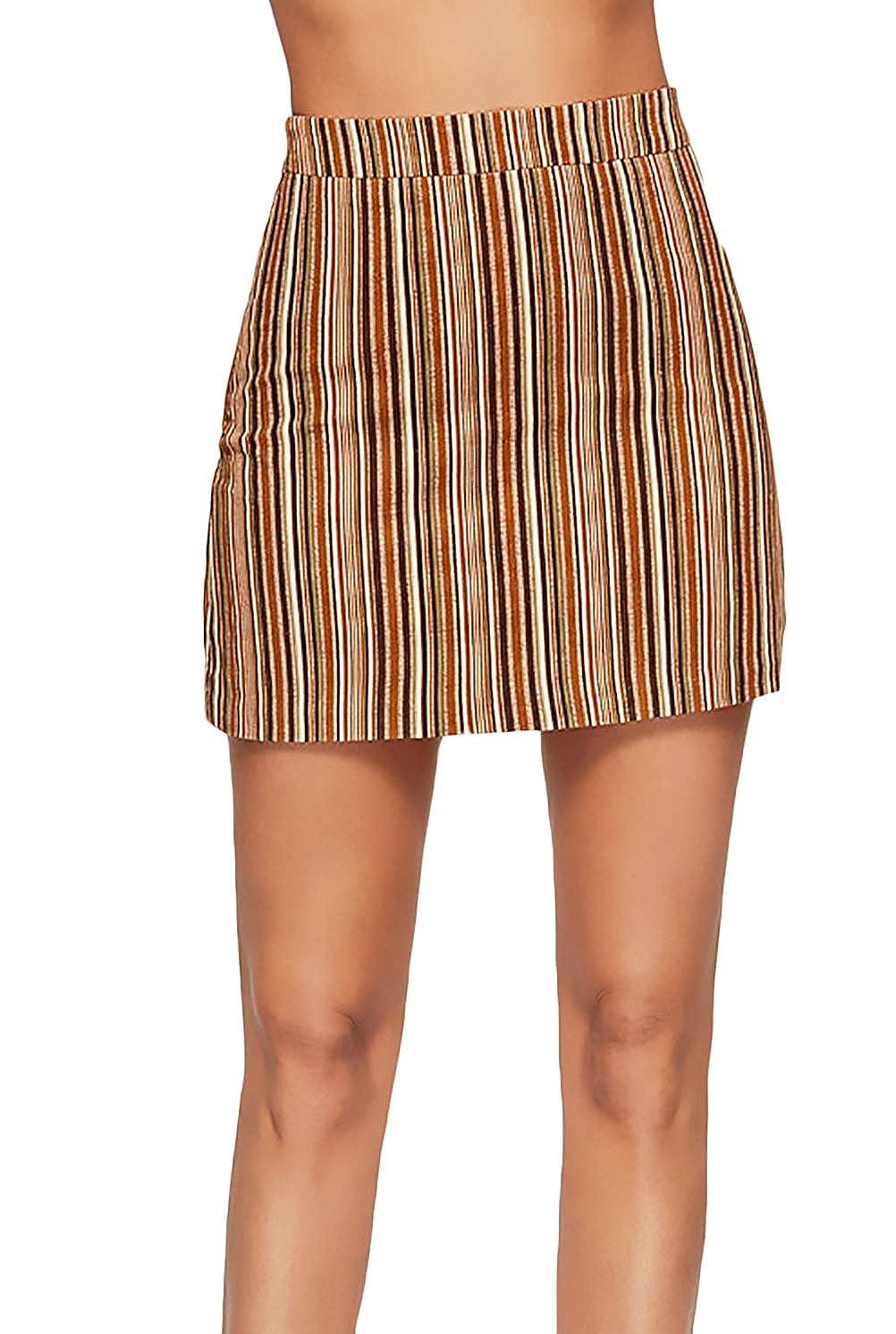 Faldas Mujer Verano Cortos Flecos Cintura Alta Minifalda Vintage ...