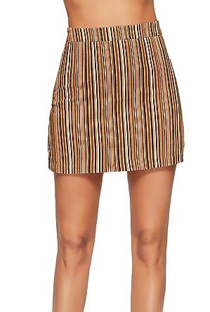 Faldas Mujer Verano Cortos Elegantes Fashion Flecos Cintura Alta ...