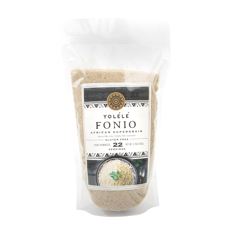 Assortit Yolele Premium Prewashed Fonio Ancient African Grain Alkaline Diet Super Food Vegan High Protein Gluten Free Fast Cooking 22 Servings 2.25 Lb (36 Oz) by Assortit