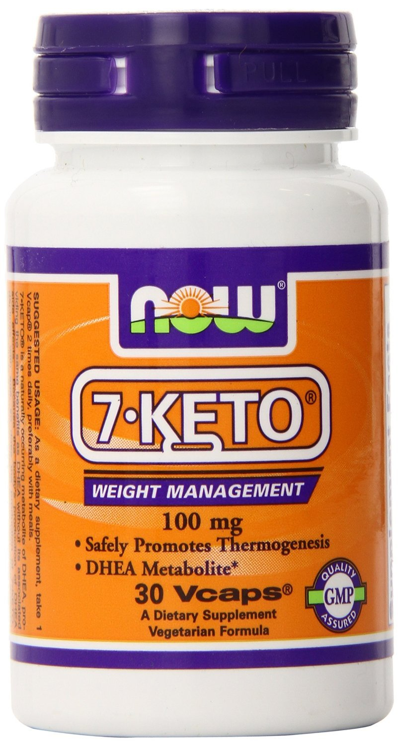 7-KETO DHEA Metabolite, 100 mg, 30vcaps by Now Foods (Pack of 5)