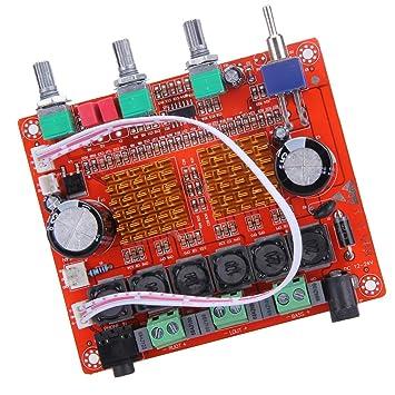 MagiDeal 2.1 12V 50w X 2 + 100W HiFi Subwoofer Digital Amplificador Placa 24V