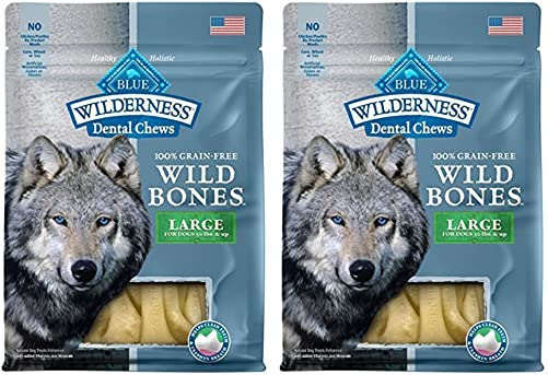 Blue Wilderness Grain Free Wild Bones Dental Chews 2 Pack – Large
