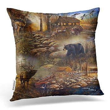 Amazon.com: Accrocn - Fundas de almohada, diseño de cuernos ...